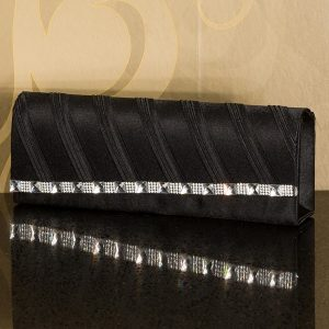 "HOT☆CLUTCH~HANDTASCHE☆""MIT STRASS☆BLACK-0"