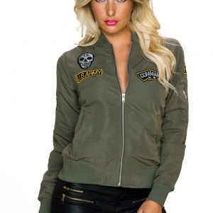 COOLE☆LEICHTE☆JACKE☆IN BOMBER~LOOK☆OLIV☆GR. 34-36/S☆-0