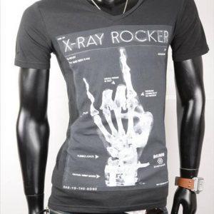 "BELMAN-KURZARM-SHIRT-PRINT""X-RAY ROCK""-BLACK-GR.L/XL-0"