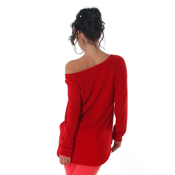 """HOT PULLOVER """"SWEET LOVE 86"""" ROT~GR.34-38/ONE SIZE-3524"""