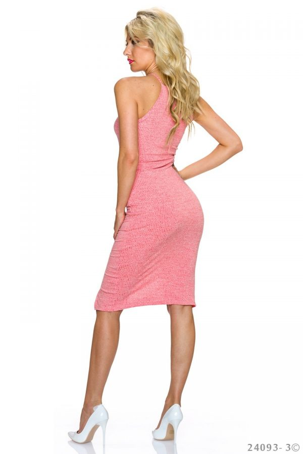 """NECK★RIPPSTRICK-TRÄGER-KLEID★CORAL★""""WHAT A BEAUTIFUL GIRL""""GR.34-36/S/M★ -3698"""